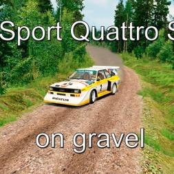 Assetto Corsa - (gravel stage) Audi Sport Quattro S1 E2 @ Känniränni
