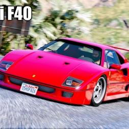 GTA 5 - Ferrari F40 RAW Engine Sound RUN - Ultra Graphics 4k