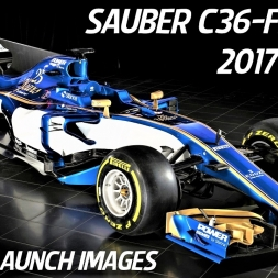 Sauber F1 Team C36-Ferrari 2017 F1 Car Launch Images Revealed - 4K