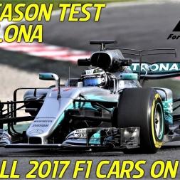 Barcelona Pre-Season Test - 2017 F1 Cars On Track - All Cars