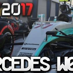 F1 2017 Mercedes W08 Onboard