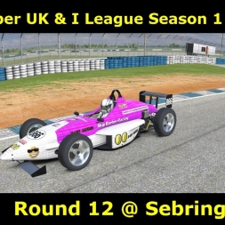iRacing - Skip Barber UK & I League Round 12 @ Sebring