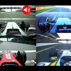 Bottas, Alonso & Massa   F1 2017 vs F1 2016 vs F1 2007 vs F1 2005 Onboard Lap @ Spain