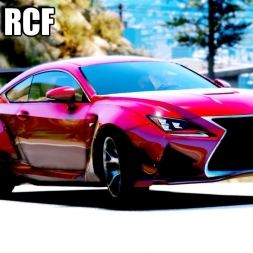 GTA 5 Lexus RCF Cinematic - Ultra Realistic Graphics mod gameplay
