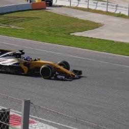 Formula 1 Test Catalunya 2017 Practice Starts & La Caixa