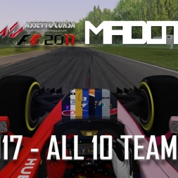 F1 2017 - GAMEPLAY - ALL 10 TEAMS RACE + D/L! RSS Formula Hybrid 2017 S1