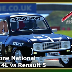 Assetto Corsa - Silverstone National - Renault 4L vs Renault 5