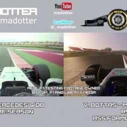F1 2017 - Real F1 vs Valtteri Bottas at Barcelona - AC Formula Hybrid 2017!