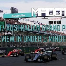 F1 ACFL - 2017 Australian Grand Prix Review (In under 5 minutes) - Melbourne - Assetto Corsa