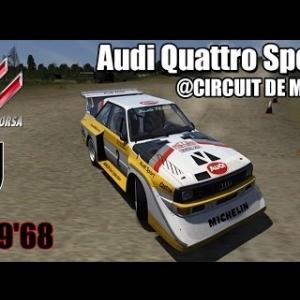 CIRCUIT DE MONTEILS : Audi Quattro Sport E2 [ASSETTO CORSA]