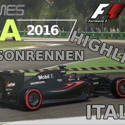 F1 2016 | LIGA 2016 | 8. Saisonrennen | Italien [GPGAMES.eu]