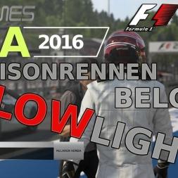 F1 2016 | LIGA 2016 | 9. Saisonrennen | Belgien [GPGAMES.eu]