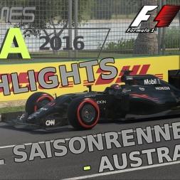 F1 2016 | LIGA 2016 | 10. Saisonrennen | Australien [GPGAMES.eu]