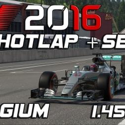 F1 2016 | Setup + Hotlap | Belgium | 1.45,285 [PC]