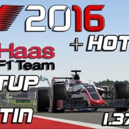 F1 2016 | Setup + Hotlap | Haas | Austin | 1.37,807 [PC]