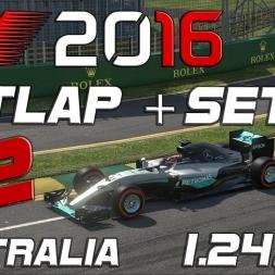 F1 2016   Setup V2 + Hotlap   Australia   1.24,298