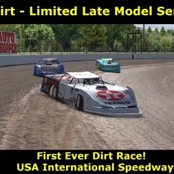 iRacing - My First Dirt Race @ USA International Speedway
