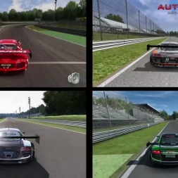 Audi R8 LMS Ultra Comparison @Monza GP in AC, AMS, pCars and R3E