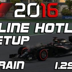 F1 2016 | Online Hotlap + Setup | Bahrain | 1.29,838