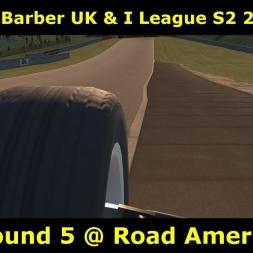 iRacing - Skip Barber UK and I League - Round 5 @ RoadAmerica