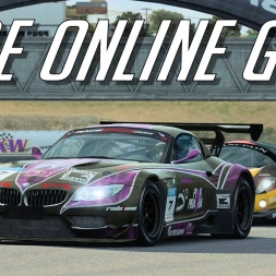 MY FIRST RACE ROOM ONLINE RACE - Race Room Racing Experience BMW Z4 GT3 @ LAguna Seca