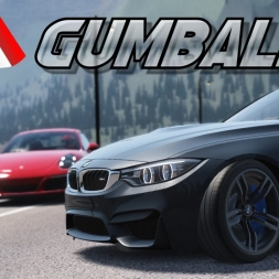 [Oculus Rift] Canadian Gumball - Assetto Corsa Gameplay @ Lake Louise - Porsche Carrera S, BMW M4