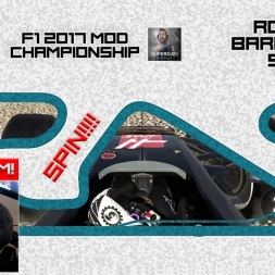 F1 2017 (mod) - ROUND 5 - Spain - WHEEL CAM - Owen32 & madotter Online Co-op Championship