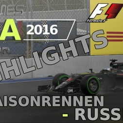 F1 2016 | LIGA 2016 | 13. Saisonrennen | Russland
