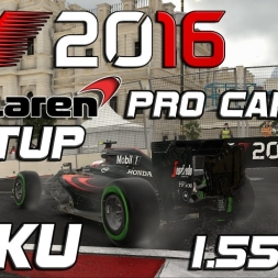 F1 2016 | Pro Career Setup | Baku | 1.55,421 (Inter Conditions Q3)