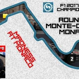F1 2017 (mod) - ROUND 5 - Monaco - WHEEL CAM - Owen32 & madotter Online Co-op Championship