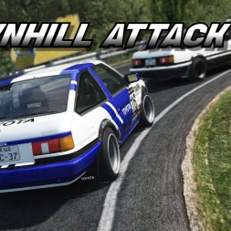 Grip racing vs Initial D style / AE86 battle at Akina - Asseto Corsa [Oculus Rift ] ⭐ Eurobeat ⭐