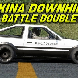 Akina Downhill touge AE86 battle double take - First following then leading - Assetto Corsa