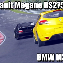 Assetto Corsa - Megane RS275 Trophy-R Chasing BMW M3 E36 Nurburgring Nordschleife