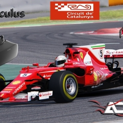 Assetto Corsa VR * 3 ACFL Ferrari SF70-H hotlaps at Barcelona GP