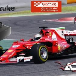 Assetto Corsa VR * 3 ACFL Ferrari SF70-H hotlaps at Barcelona GP