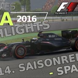 F1 2016 | LIGA 2016 | 14. Saisonrennen | Spanien [gpgames.eu]