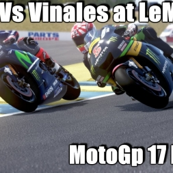 VR The Game - MotoGP 17 MOD - Zarco Vs Vinales at LeMans Circuit