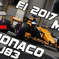 Assetto Corsa | ACFL F1 2017 MOD | McLaren MCL32 | Monaco | 1.12,183