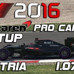 F1 2016 | Pro Career Setup | Austria | 1.07,612 (Q3 Lap)