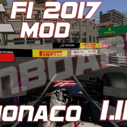 Assetto Corsa | ACFL F1 2017 MOD | Haas VF-17 onboard at Monaco | 1.11,112