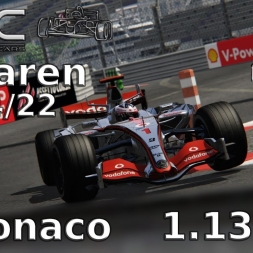 Assetto Corsa | VRC McLaren MP4/22 (V0.2) | Monaco | 1.13,874