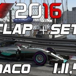 F1 2016 | Setup + Hotlap | Monaco | 1.11,480