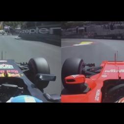 Rcciardo 2016 vs Raikkonen 2017 Pole Lap Onboard F1 - MonacoGP