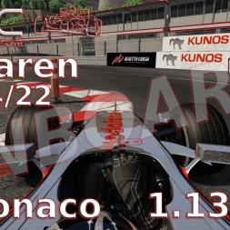 Assetto Corsa | VRC McLaren MP 4/22 (v 0.2) | Monaco onboard | 1.13,874