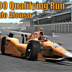Indy 500 Qualifying Run - Fernando Alonso - rFactor 2