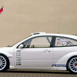 Assetto Mods: Ford Focus WRC against racecars at Highland Drift!