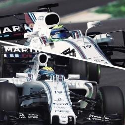 Assetto Corsa Williams FW40 & FW37 comparison @ catalunya