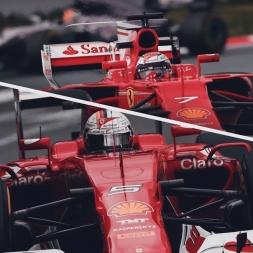 Assetto Corsa Ferrari SF70H & SF15T comparison  @ catalunya