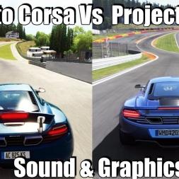 Assetto Corsa vs Project Cars ! Sound & Graphics Comparison 1440p