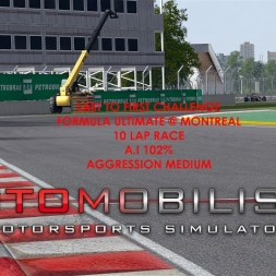 Autmobilista Formula Ultimate @ Montreal Last To First Challenge Race 10 Laps